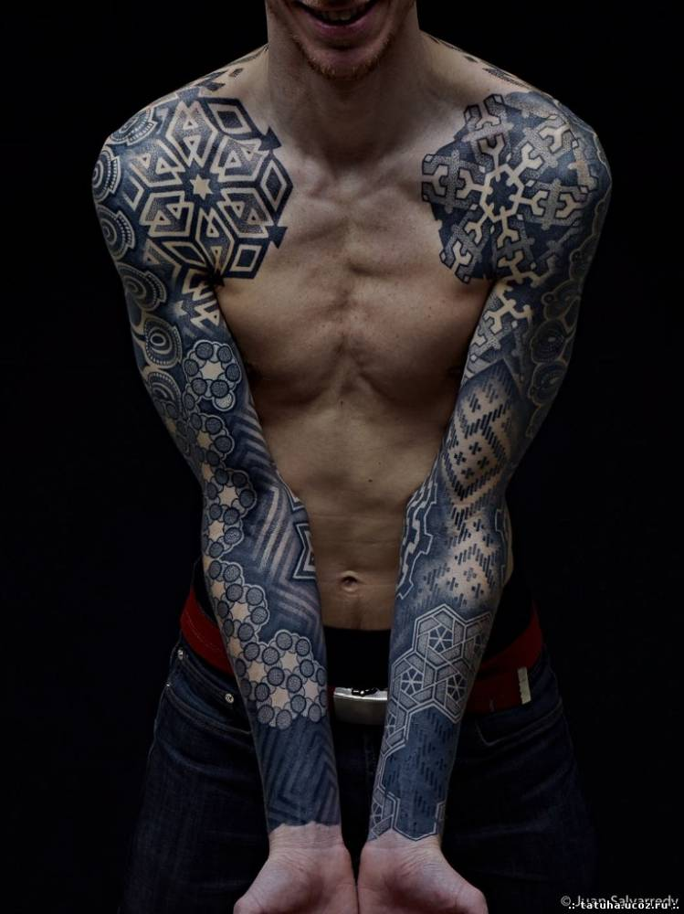 Татуировки в стиле дотворк dotwork tattoo
